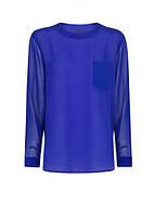 Блуза женская MANGO размер L шифоновая с прозрачными рукавами