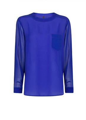 Блуза женская MANGO размер L 50 RU шифоновая с прозрачными рукавами, фото 2