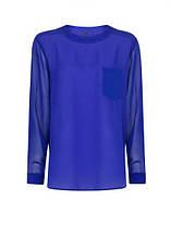Блуза женская MANGO размер L 50 RU шифоновая с прозрачными рукавами