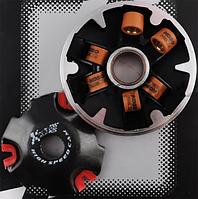 Вариатор передний (тюнинг) Suzuki AD50 (медно графитовая втулка, ролики латунь) KOSO