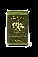 Африканское мыло Shea Moisture с Оливкой, Зеленым чаем, Авокадо. Антивозрастное.