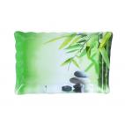 Тарелка с волнистым краем SNT 8x20см Зеленый бамбук (3720)