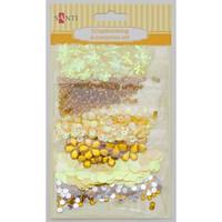 Набор декоративных украшений для скрапбукинга, 6шт/уп., желтый 951979