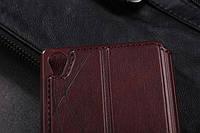 Смарт чохол-книжка для Sony Xperia Z3 (коричневий)