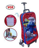 """Чемодан на шести колесах для ребенка """"Гномик"""" VGR TB-1210 красный; голубой"""