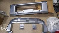 Защита переднего бампера серебро EGR Mitsu Pajero 07-12