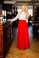Женская юбка макси красная