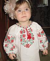 "Блузка вышитая ""Розы"" р.28"