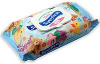 Влажные салфетки для детей SuperFresh 72 шт, (большая упаковка), пластиковый клапан Ромашка