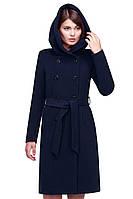 Молодежное пальто со вшитым капюшоном