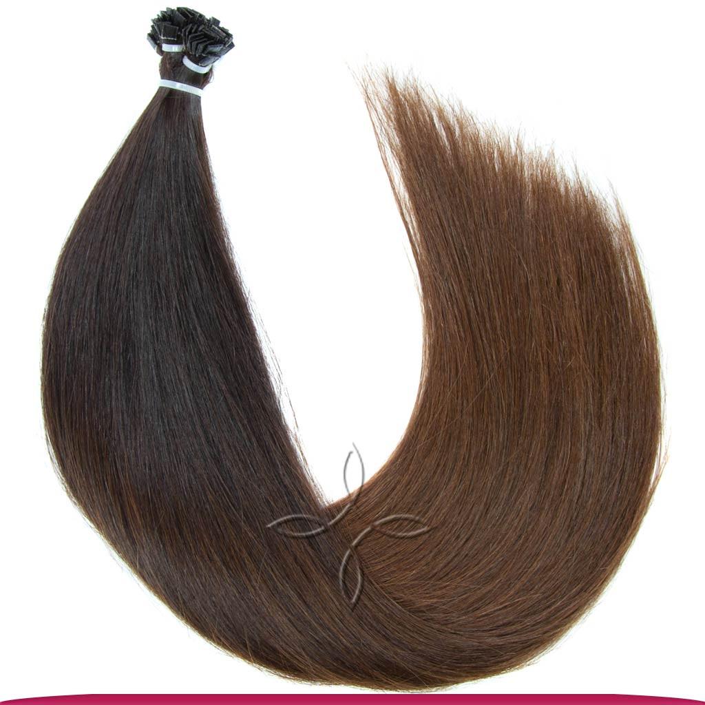 Натуральные Европейские Волосы на Капсулах 50 см 100 грамм, Омбре №1B-04