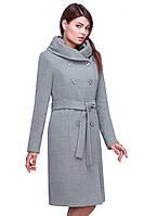 Оригинальное по кроя и дизайну кашемировое пальто
