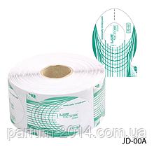 """Форма для нарощування нігтів JD-00A одноразова універсальна, паперова на клейкій основі, ідеальний """"З-вигин"""" (300 шт)"""