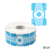 Форма для наращивания ногтей JD-24 одноразовая универсальная, бумажная на клейкой основе, двухсторонняя (500 шт)