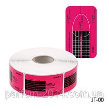 Форма для наращивания ногтей JT-00 одноразовая, бумажная на клейкой основе, прямоугольной формы (500 шт)
