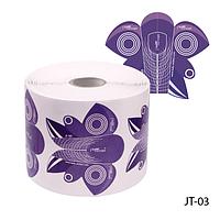 """Форма для наращивания ногтей JT-03 одноразовая, бумажная на клейкой основе, формы """"стилет"""" (500 шт)"""