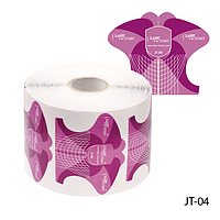 """Форма для наращивания ногтей JT-04 одноразовая универсальная, бумажная на клейкой основе, идеальный """"С-изгиб"""" (500 шт)"""
