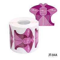 """Форма для наращивания ногтей JT-04A одноразовая универсальная, бумажная на клейкой основе, идеальный """"С-изгиб"""" (300 шт)"""