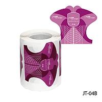 """Форма для наращивания ногтей JT-04B одноразовая универсальная, бумажная на клейкой основе, идеальный """"С-изгиб"""""""