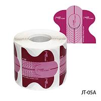 """Форма для наращивания ногтей JT-05A одноразовая универсальная, бумажная на клейкой основе, идеальный """"С-изгиб"""" (300 шт)"""