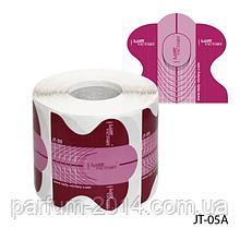 """Форма для нарощування нігтів JT-05A одноразова універсальна, паперова на клейкій основі, ідеальний """"З-вигин"""" (300 шт)"""