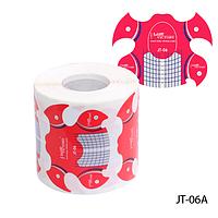 """Форма для наращивания ногтей JT-06A одноразовая универсальная, бумажная на клейкой основе, идеальный """"С-изгиб"""" (300 шт)"""