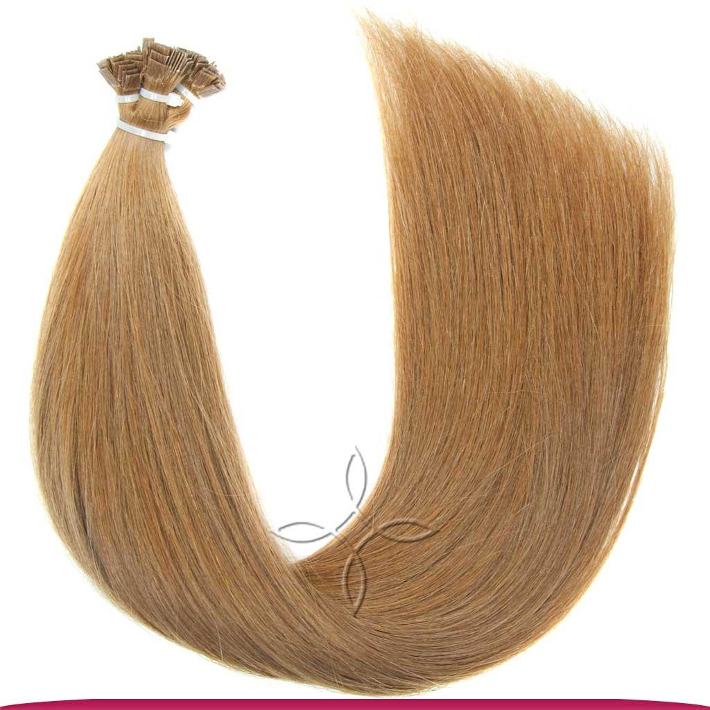 Натуральные Европейские Волосы на Капсулах 50 см 80 грамм, Русый №08