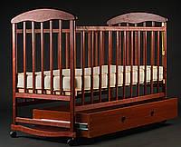 Детская кроватка Наталка с ящиком темная ясень 60029 *бр