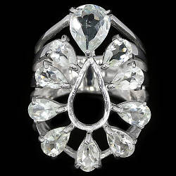 Серебряное кольцо с натуральными Аметистами