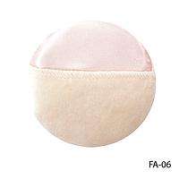 Спонж FA-06 для пудры и тональной основы, с атласной лентой (круглый)