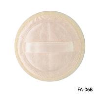 Спонж FA-06B для пудры и тональной основы, с атласной лентой (круглый)