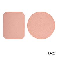 Спонжи FA-20 для снятия макияжа (2 шт, в круглой и прямоугольной форме)