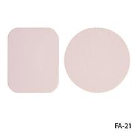 Спонжи FA-21 для снятия макияжа (2 шт, в круглой и прямоугольной форме)