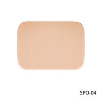 Спонжи SPO-04 для нанесения и снятия макияжа (4 шт, прямоугольной формы, телесного цвета)