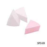 Спонжи SPO-09 для нанесения и коррекции макияжа (8 шт, треугольной формы)