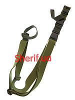 Ремень ружейный трехточечный тактический Спецназ Olive 5019