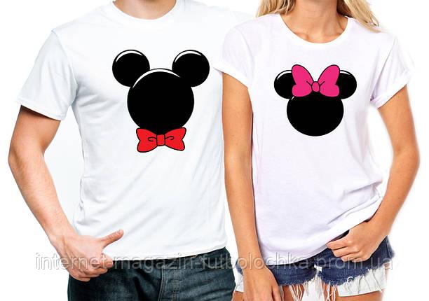"""Парные футболки """"Микки Маус"""", фото 2"""