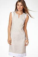 Платье, сарафан классическое приталеное льняное. Разные расцветки, фото 1