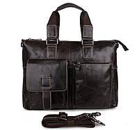 """Сумка мужская портфель """"Престиж темно-коричневый"""" из натуральной кожи"""