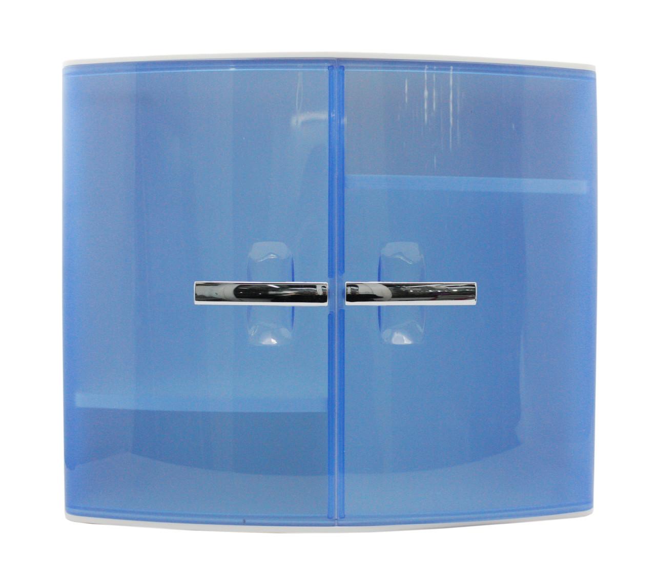 Шкафчик для ванной голубого цвета, АБС пластик