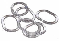 Комплект пластиковых колец для шторки 12 шт. прозрачные, Wela (Польша)