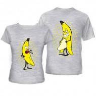 Футболки для влюбленных с бананами