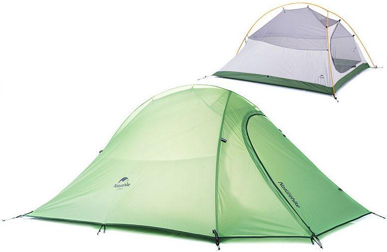 Палатка ультралёгкая 2-х местная NatureHike Cloud Up 2 полиэстер NH15T002-T