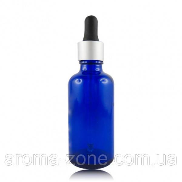 Стеклянная бутылка с пипеткой ,синий 50 мл.