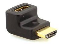 Переходник (адаптер) штекер HDMI- гнездо HDMI, угловой