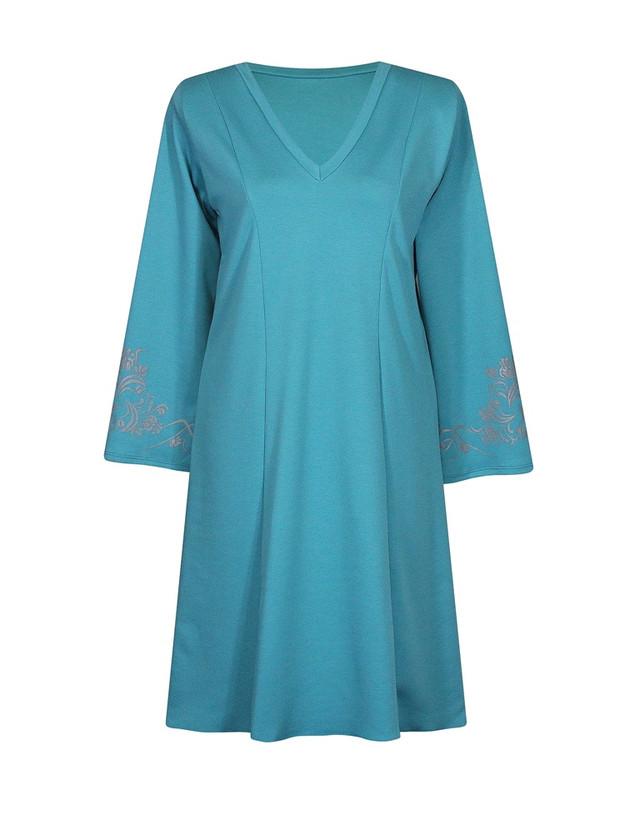 Платье с V-образным вырезом Винтаж,волна