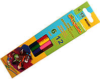 Карандаши цветные Пегашка (6шт 12 цветов) двухсторонние, для рисования