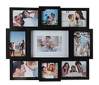 """Мультирамка для фото; """"9 в 1""""; кол. чор.; арт. BIN-KH038; ANGEL GIFTS"""