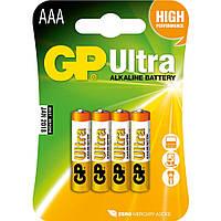 Батарейка GP 24AU-U4 Ultra alkaline LR03 ААA (4шт, блистер, 4/40/320)