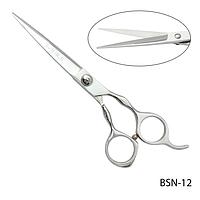 """Ножницы парикмахерские BSN-12 - для стрижки, полуэргономичной формы, размер: 6"""""""